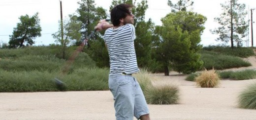 Me playing Golf in Vegas