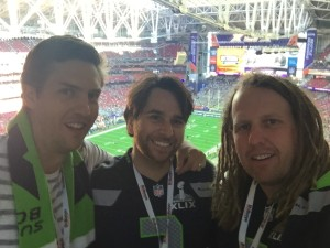 The 3 amigos at the Superbowl